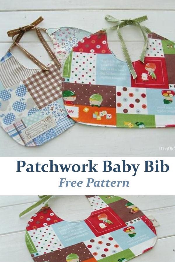 Patchwork Baby Bib Free Pattern