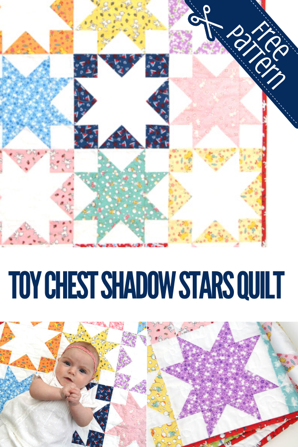 Toy Chest Shadow Stars Play Mat Quilt Tutorial