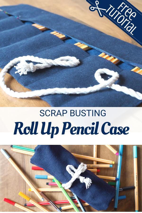 Scrap Busting Pencil Roll Case