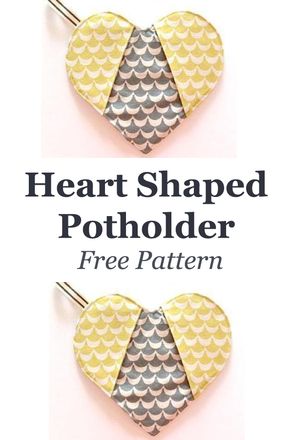 Heart Shaped Potholder Free Pattern