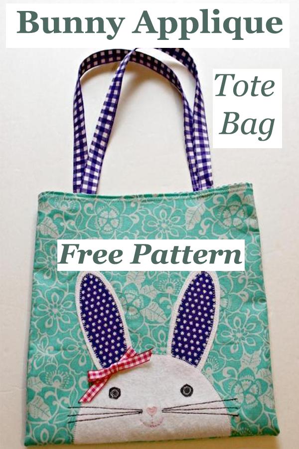 Bunny Applique Tote Bag Free Pattern
