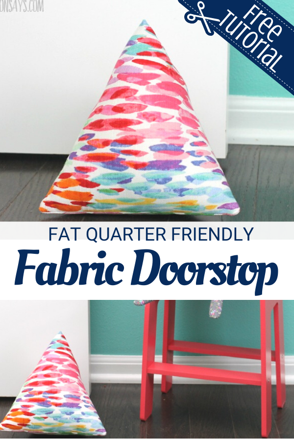 Learn to Sew a Fabric Doorstop