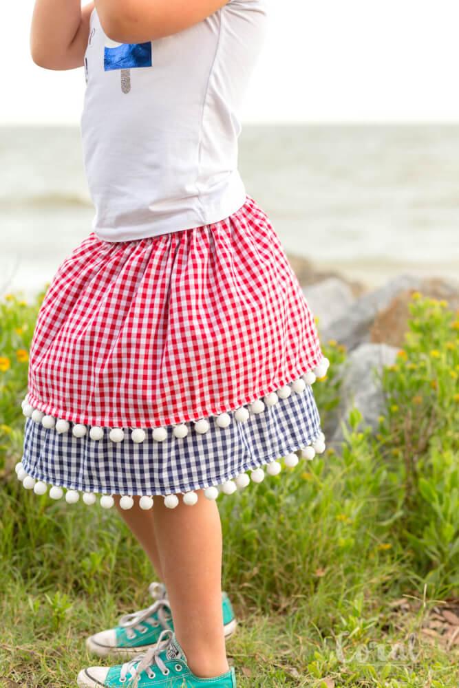 July 4th skirt for girls