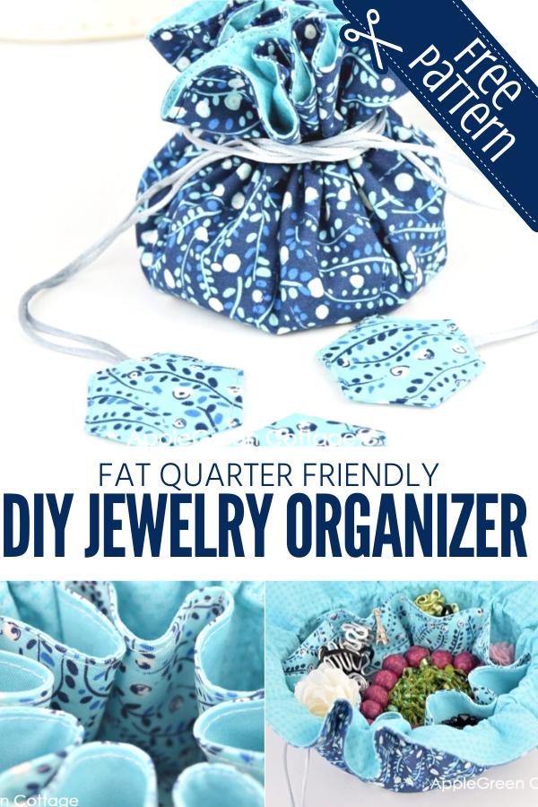 Fat Quarter Friendly Jewelry Organizer Pattern