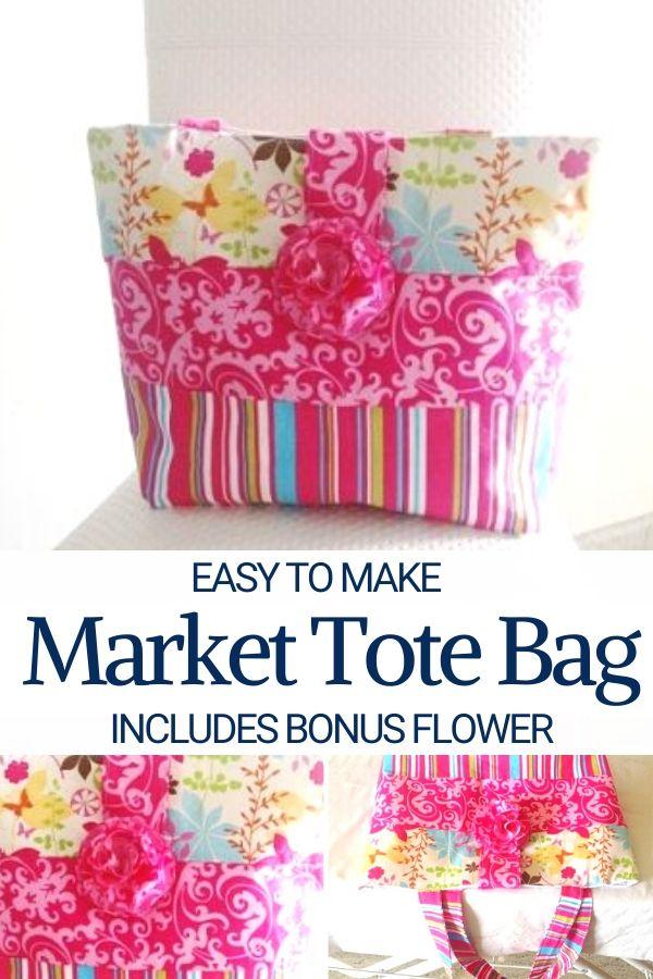 Easy to Make Market Tote Bag Pattern