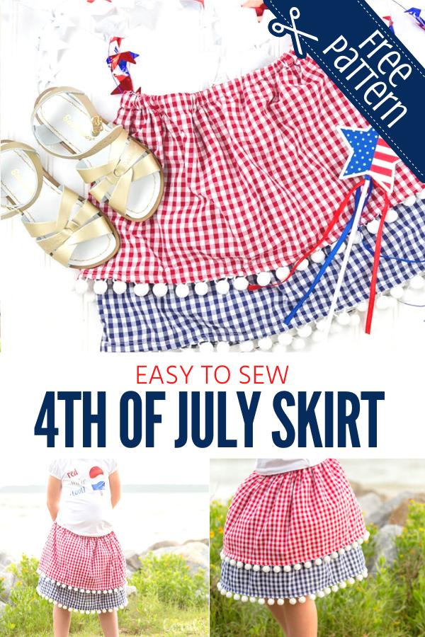 Free 4th of July Skirt Pattern