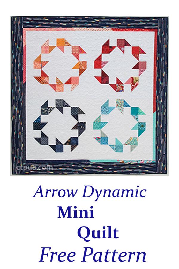 Arrow Dynamic Mini Quilt Free Pattern