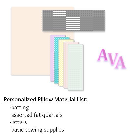 Monogramed Pillow Supplies