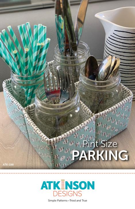 Pint Size Mason Jar Storage Container perfect for utensils