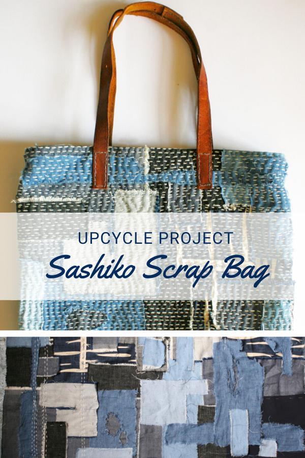 Sashiko Scrap Bag Tote Tutorial