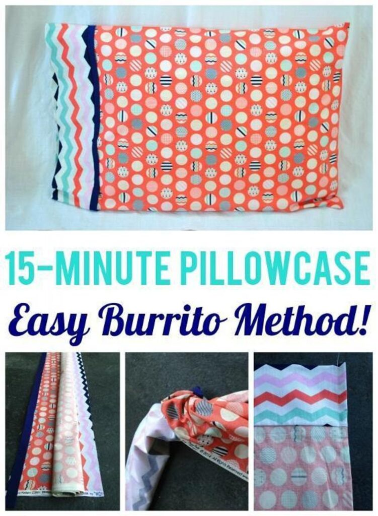 Easy Burrito Method Pillowcase