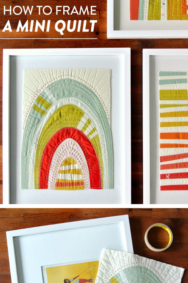 How to Frame a Mini Quilt, Modern Mini Quilt Tutorial