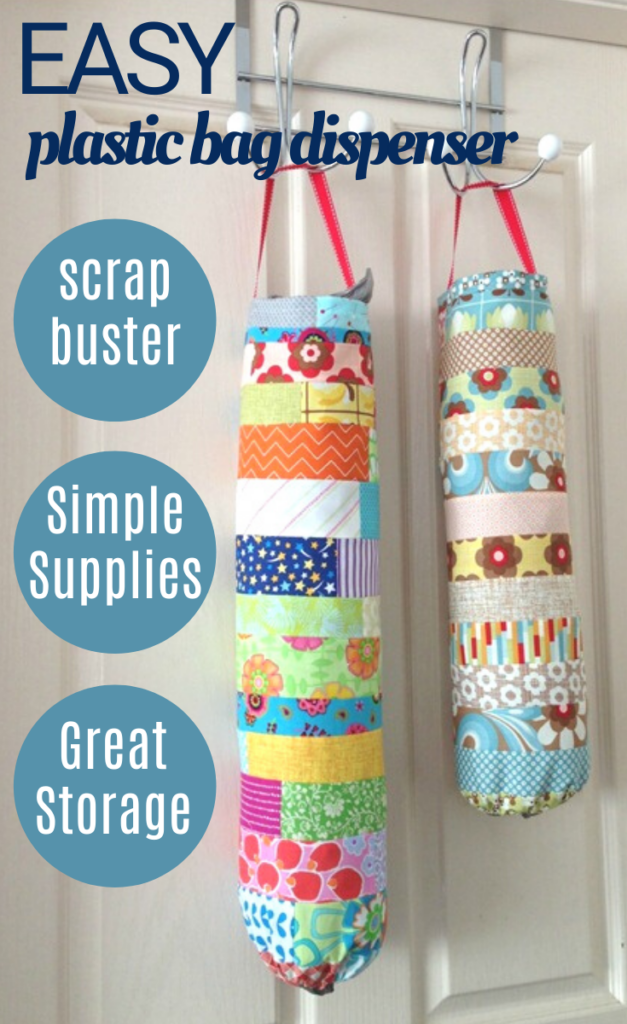 Easy to make plastic bag storage dispenser