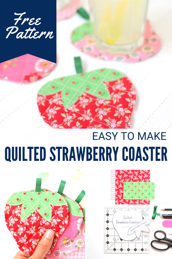 Free strawberry coaster pattern and tutorial