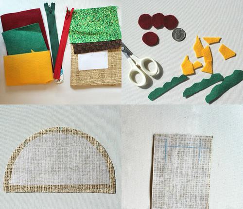 taco pouch tutorial supplies
