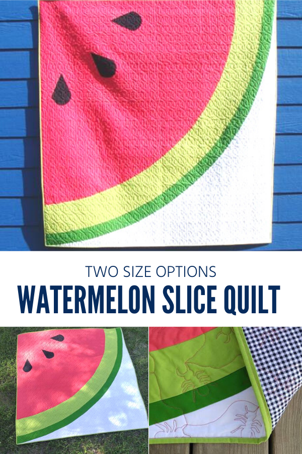 Watermelon Slice Quilt and Table Topper Pattern