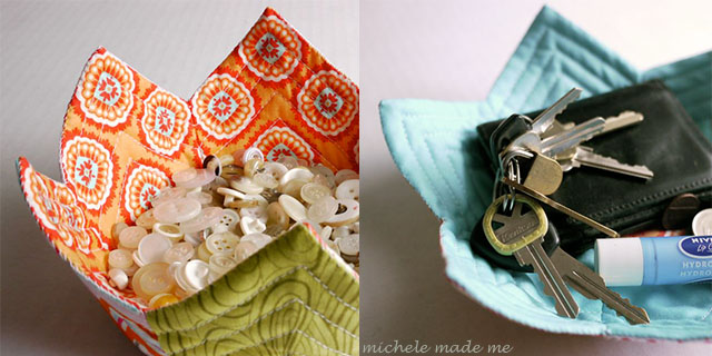 DIY Fabric Trinket Bowl and Plate Sewing Pattern