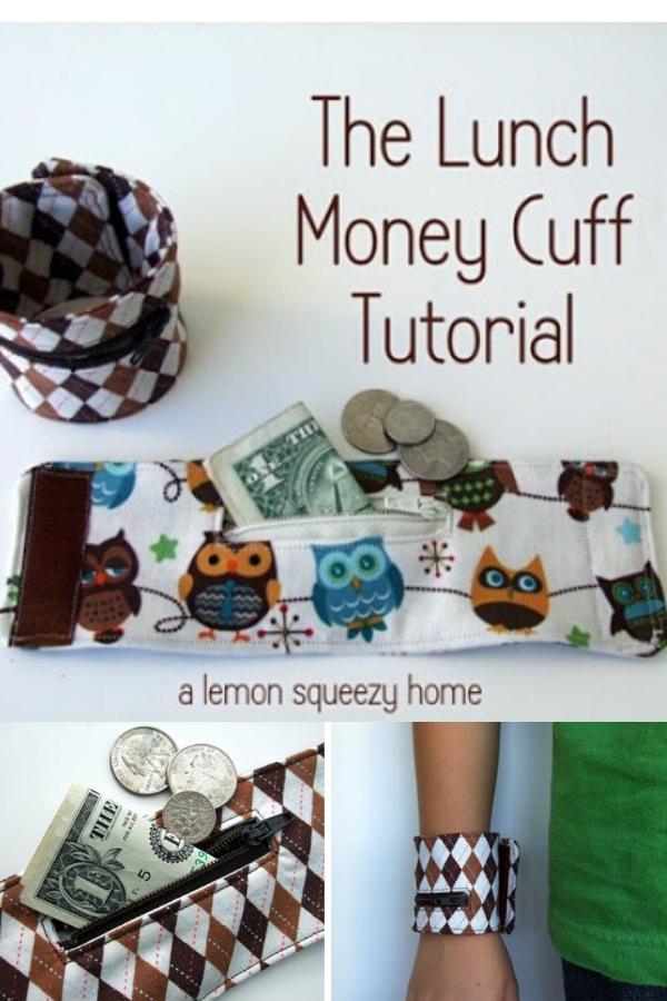 Lunch Money Cuff Sewing Tutorial