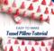 Tassel Pillow Tutorial. Easy to sew home decor.