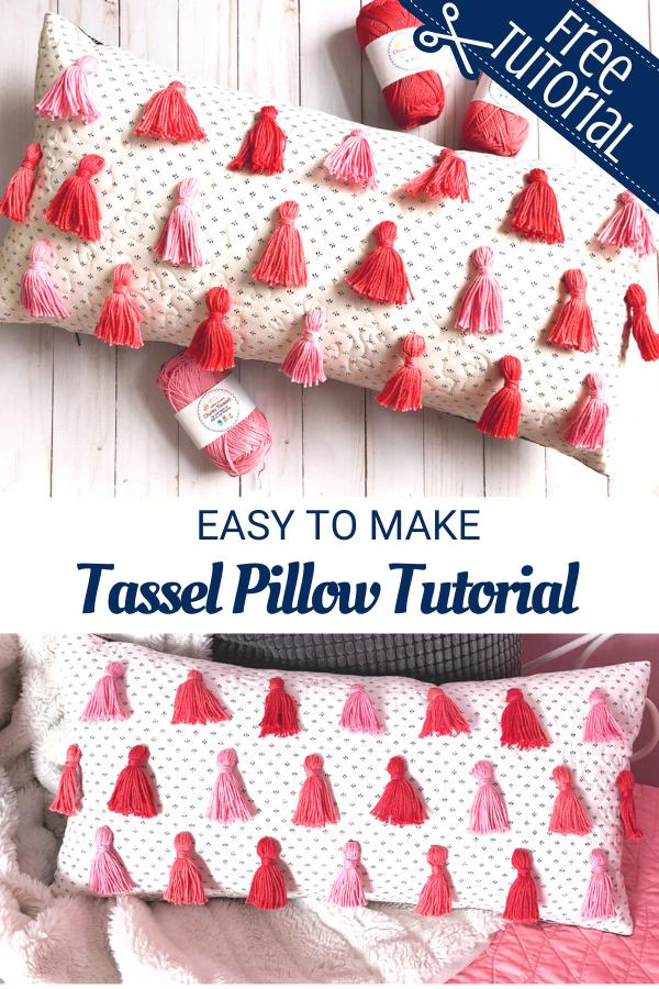 Easy to sew tassel pillow home decor