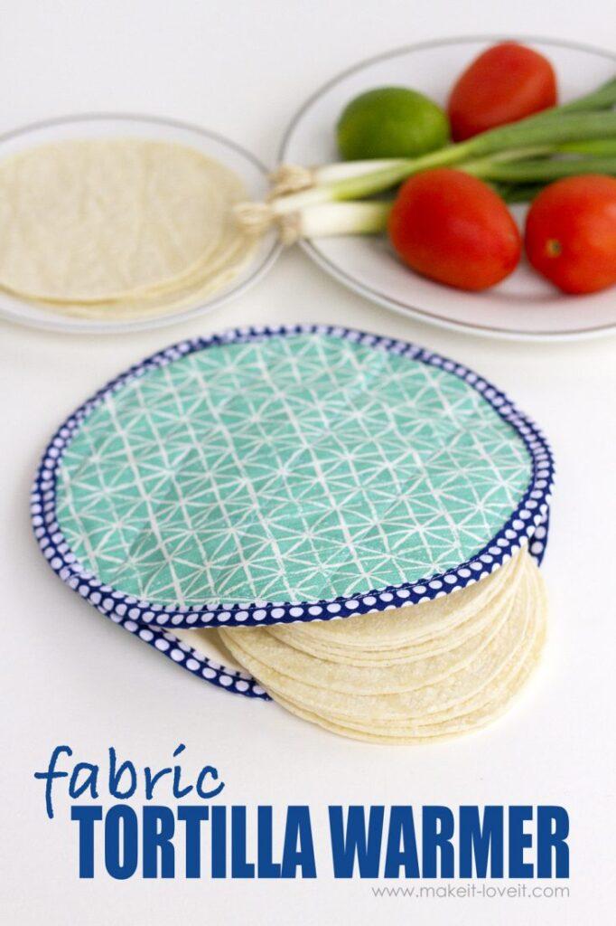 Microwave-able Fabric Tortilla Warmer Tutorial