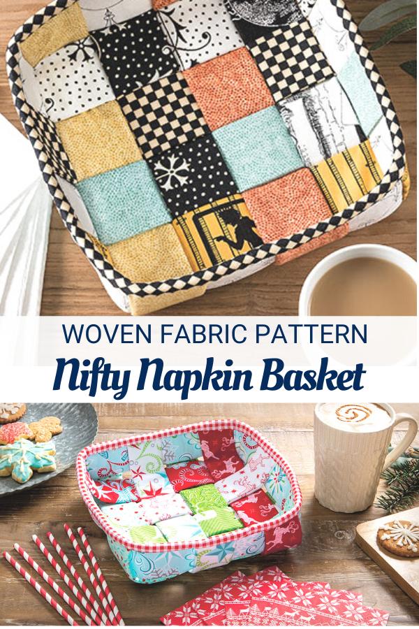 Nifty Napkin Basket Sewing Pattern