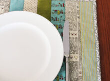 Easy Quilt As You Go Placemats Tutorial