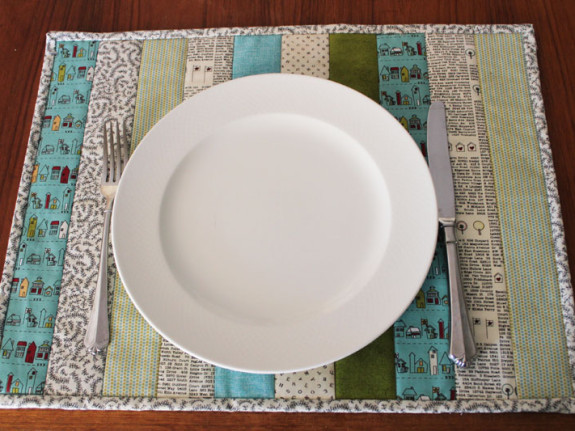 Quilt As You Go Easy Placemats