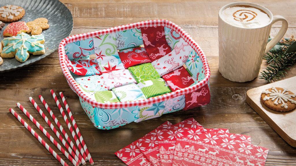 Woven Fabric Napkin Basket Sewing Pattern