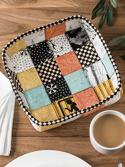 DIY Napkin Basket Sewing Pattern