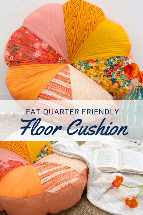 Free Fat Quarter sewing project - Floral Floor Cushion.