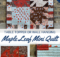 Maple Leaf Mini Quilt free pattern. Wall hanging or table topper for fall decor.