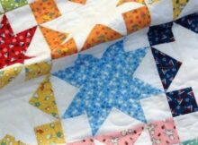 Turn your fabric leftovers into an amazing baby quilt with the Shadow Stars pattern.