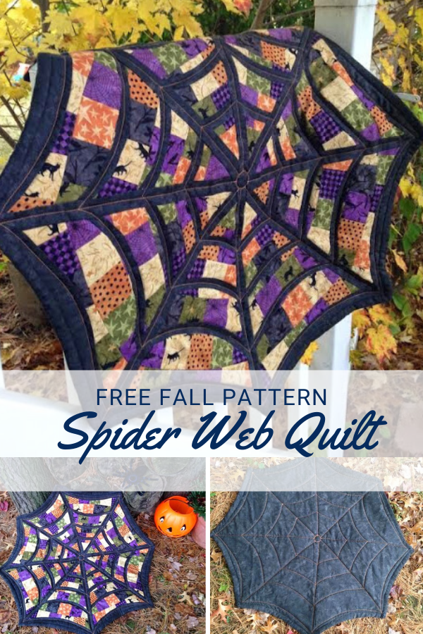 Spider Web Quilt Wall Hanging or Table Topper Free Pattern