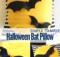 DIY Halloween Bat Pillow for simple Halloween Decor