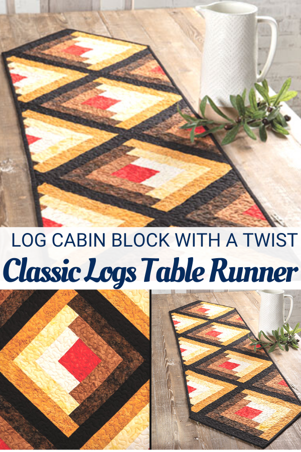 Classic Logs Table Runner Quilt Pattern and Video Class