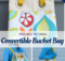 Free Convertible Bucket Bag Tutorial with Grommets