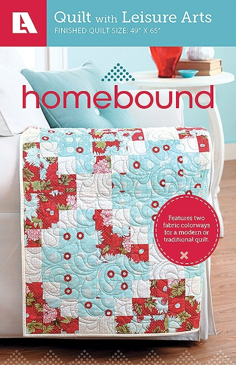 Homebound quilt pattern with two colorways for a modern or traditional quilt