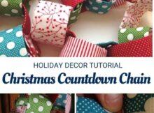Fabric Scraps Christmas Countdown Chain Sewing Tutorial