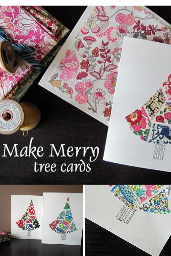 DIY Christmas Cards to make with fabric scraps