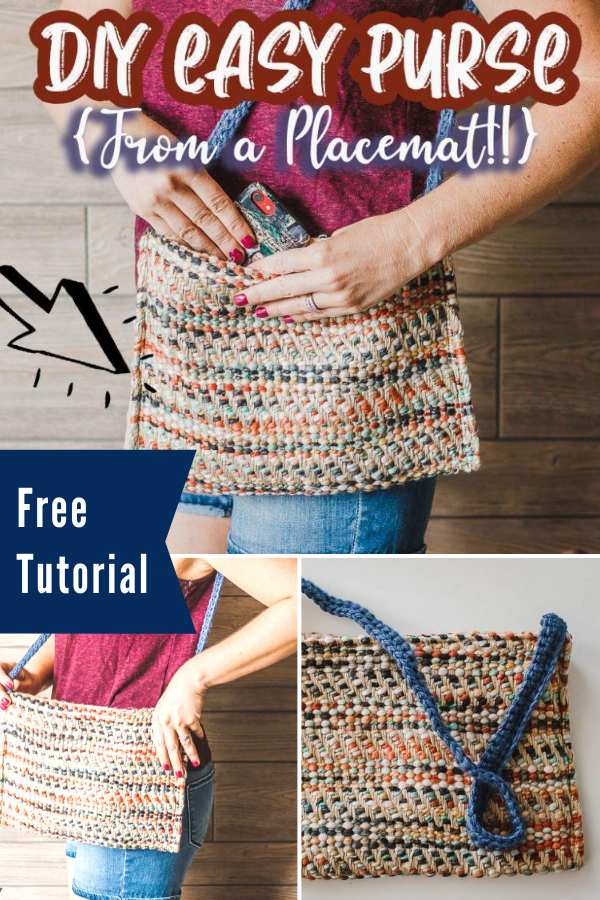 Free Placemat Purse Sewing Tutorial - Great upcycle!