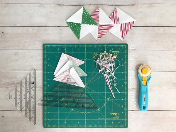 Solid Presents Cutting HST's | Handmade with Love sew along with Sewing with Scraps