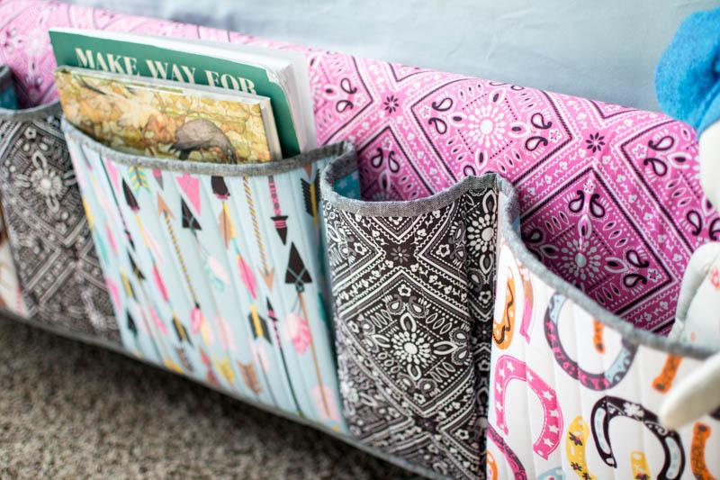 DIY Bedside Pocket Organizer