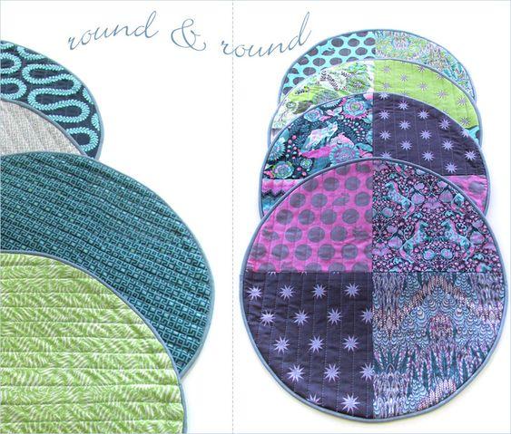 DIY circle placemats sewing tutorial