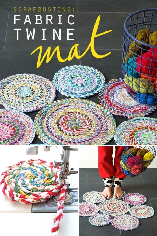 Scrap Busting Fabric Twine Mat Sewing Tutorial