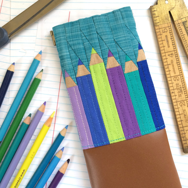 Pencil Pouch Paper Piecing Pattern - Write On sewing pattern