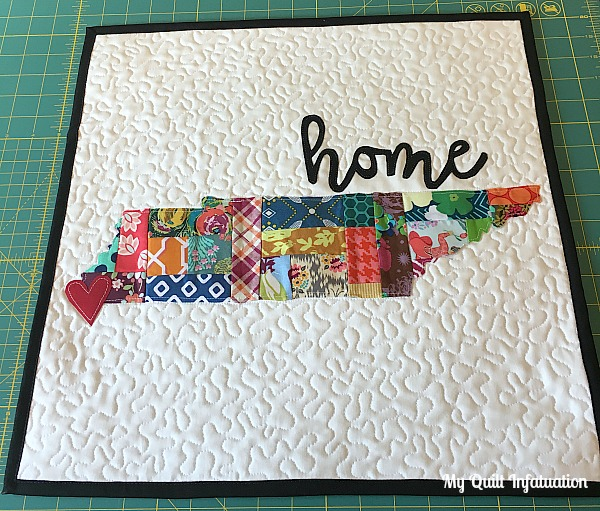 Scrappy Patchwork Home State Pillow Tutorial