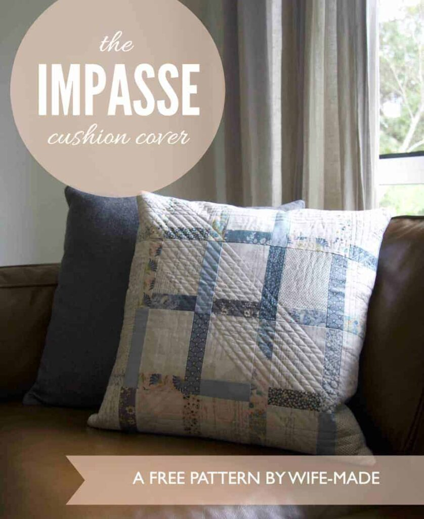 Free Quilted Pillow Cover Pattern and Tutorial