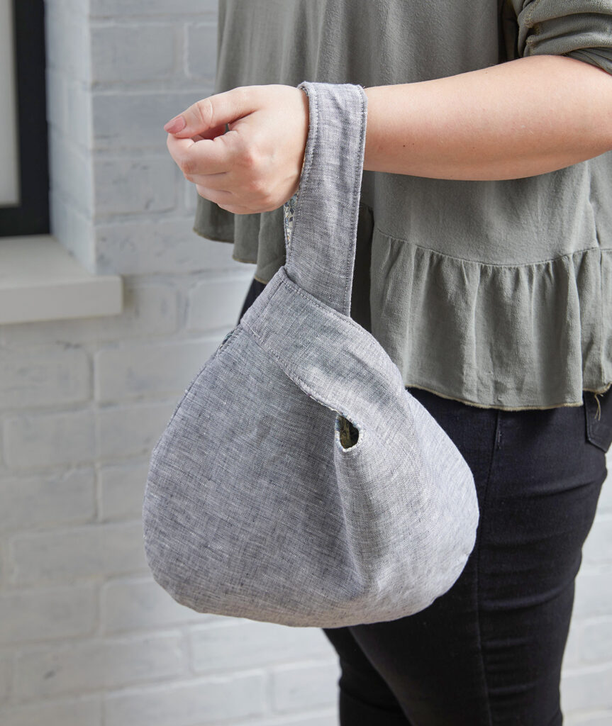 Japanese Style Knot Bag Free Sewing Pattern