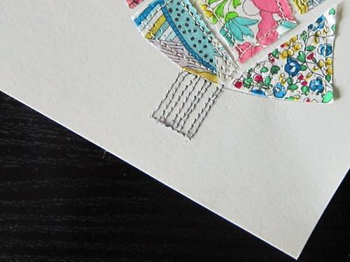 DIY Holiday Cards using scrap fabric
